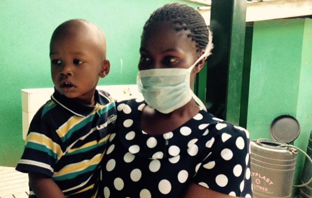 Tuberkulose-patient på et hospital